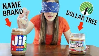NAME BRAND vs DOLLAR TREE FOOD (Blind Taste Test)