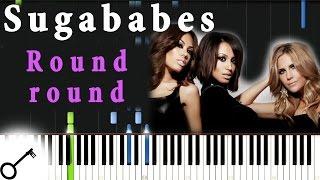Sugababes - Round round [Piano Tutorial] Synthesia | passkeypiano
