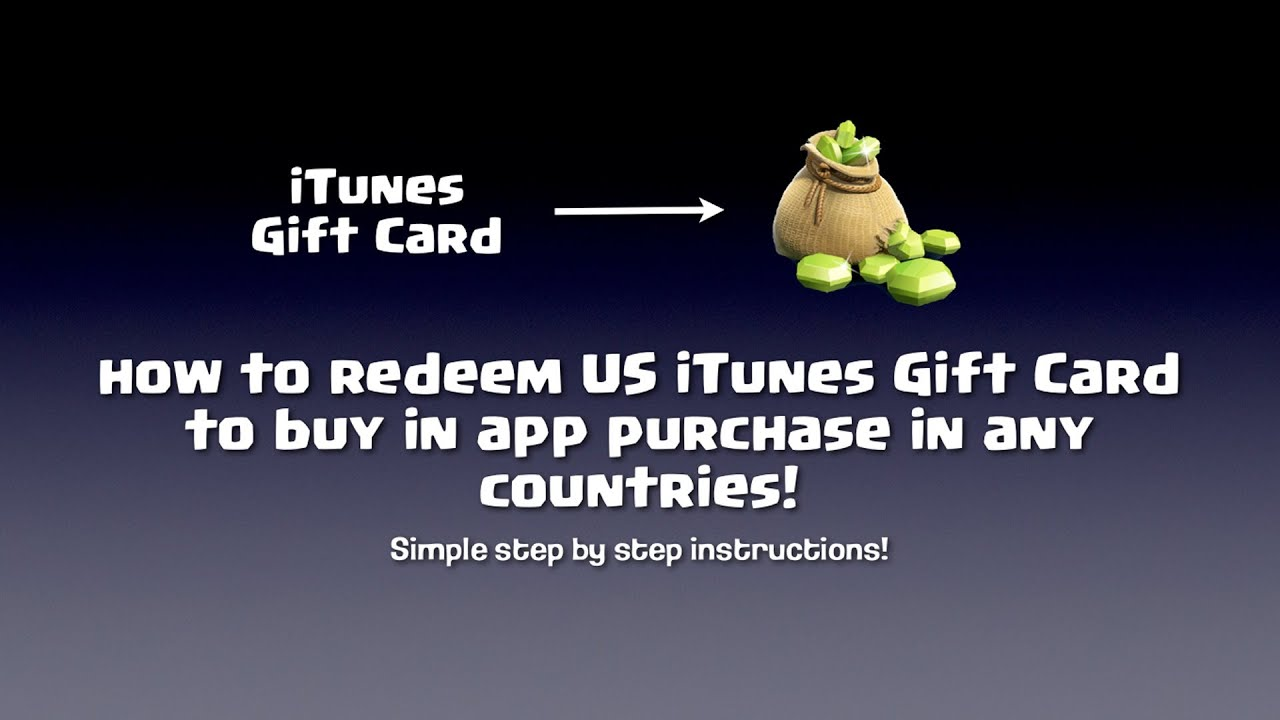 How To Redeem Us Itunes Gift Card In Any Countries Youtube