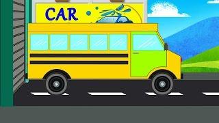 bus cartoon wash