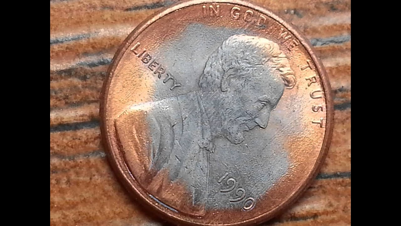 LINCOLN ZINC ERROR - PARTIAL SILVER PENNY 1985,1988,1990 &1991