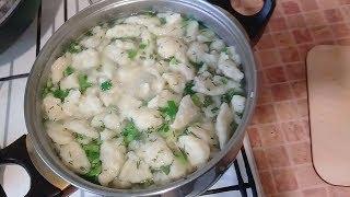 Бабушкин суп.Очень вкусный суп с галушками.
