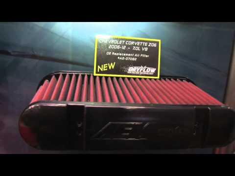 AEM's latest Dryflow Technology explained - SEMA 2011