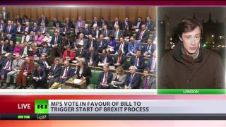 'We can't ignore the people'  Parliament backs Brexit bill in landslide vote