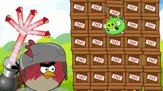 Angry Birds Collection Cannon 1 - HUGE TERENCE THROW 100 BIRDS TO BLAST BAD PIGS!