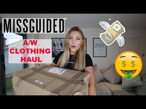 MISSGUIDED A/W CLOTHING HAUL   Coats, Knitwear, Sequins