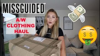 MISSGUIDED A/W CLOTHING HAUL | Coats, Knitwear, Sequins