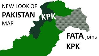 Changes inside in Pakistan Map - KPK Map after FATA Merges