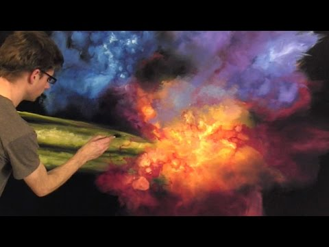 Painting An Outer Space Galaxy Scene - PART 1