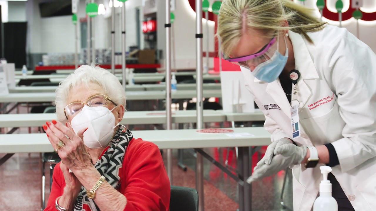 Ohio State opens mass COVID-19 vaccination site