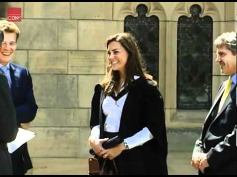 Kate Middleton at her graduation ceremony - YouTube
