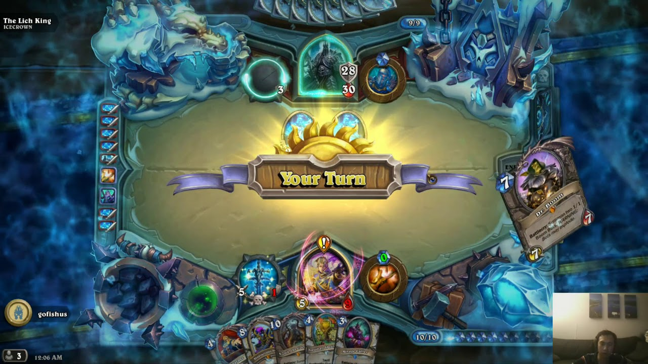 Hearthstone gameplay - Quest Priest vs Lich King