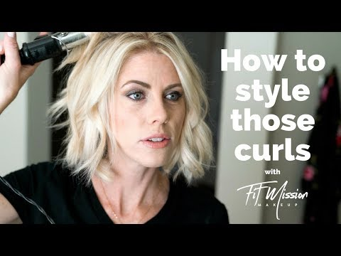 How I style my short hair| Beach Wave - Hair Tutorial