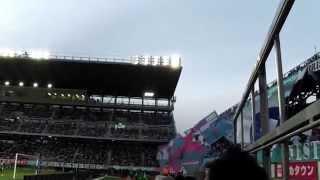ベストアメニティスタジアム ピッチサイド席「芝かぶりシート」から撮影...