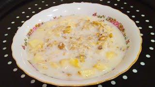 Вкусный и простой рецепт каши без варки   Овсяная каша на завтрак   Рецепт ПП  овсянка - диета
