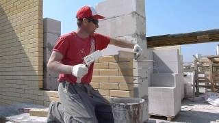 кладка кирпича.как сделать простенок 2-3 кирпича в стене без причалки.Nivok111