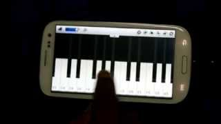 Playing Hindi Song on Galaxy S3 (Piano Keyboard)
