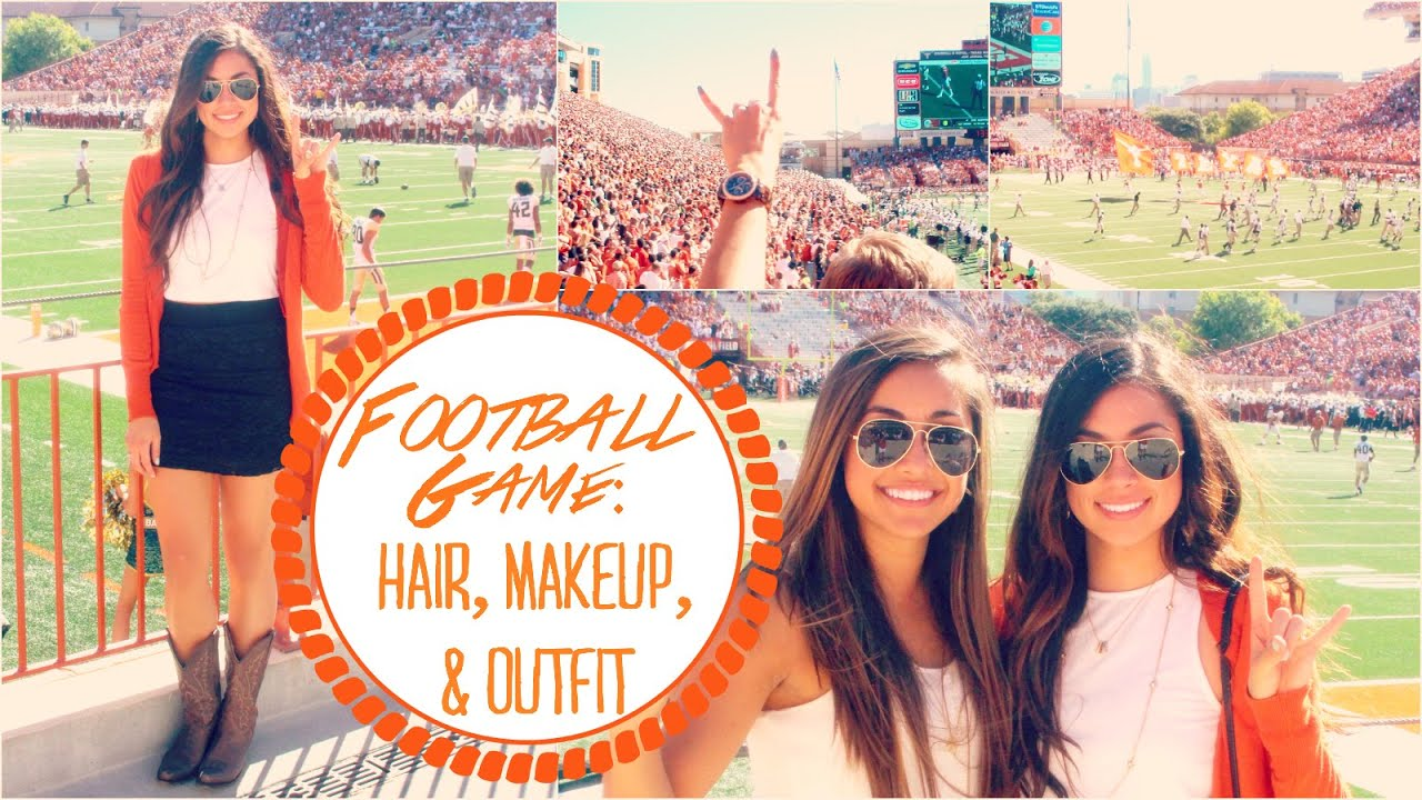 football game: hair, makeup, & outfit!