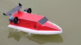 How to make a BOAT - Racing Boat - Jet Boat