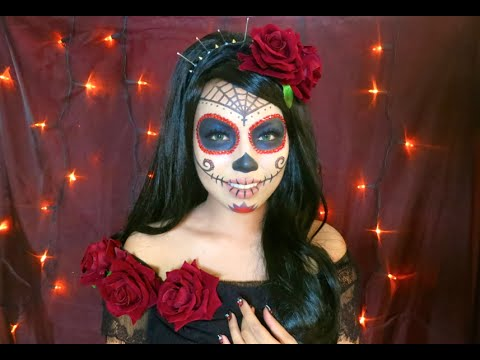 cracked sugar skull makeup youtube