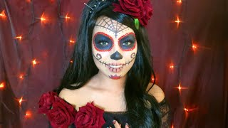 Beautiful SUGAR SKULL Makeup Tutorial Thumbnail