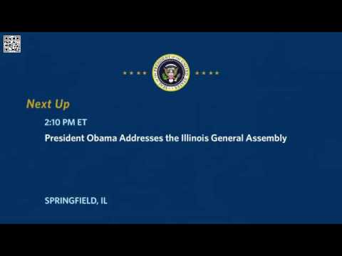 Video Barack Obama addresses Illinois General Assembly