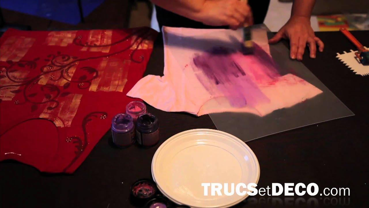 Peinture Sur Tissu Tutoriel Par Trucsetdecocom Youtube