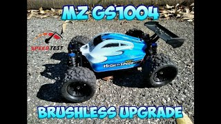 MZ GS1004 BRUSHLESS BUGGY SPEED RUN & BASH TEST