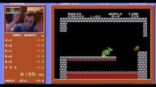 Super Mario Bros. Speedrun in 4:55.913 (Former World Record)