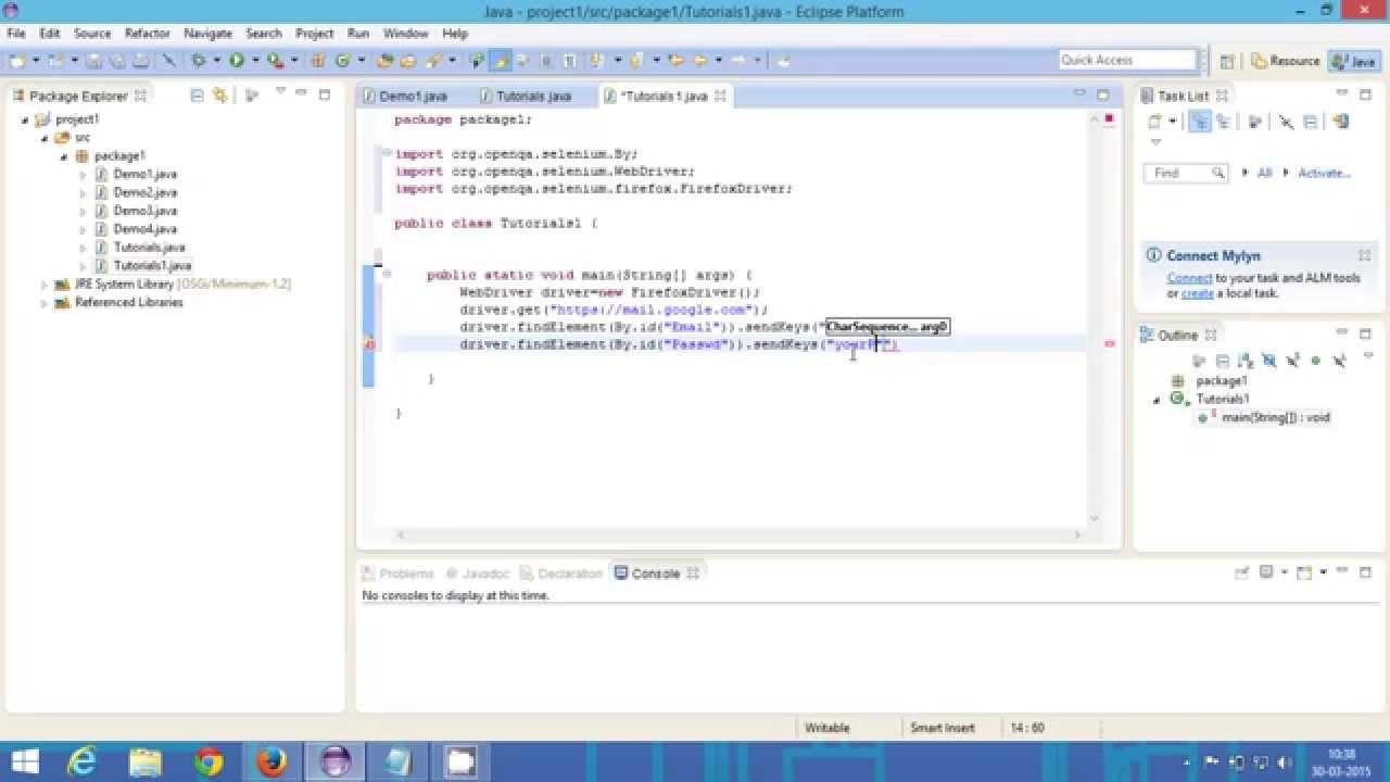selenium tutorial for beginner | how to login to gmail using