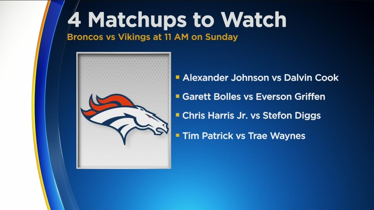 4 Things to Watch in Broncos vs Vikings Game