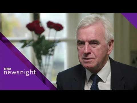 John McDonnell: 'I can't forgive Tories' INTERVIEW - BBC Newsnight