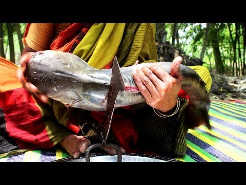 Big Fish Kofta Curry Recipe Prepared Grandmother | Big Fish Cutting And Prepared Tasty Recipe