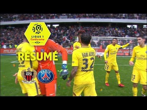 OGC Nice - Paris Saint-Germain ( 1-2 ) - Résumé - (OGCN - PARIS) / 2017-18