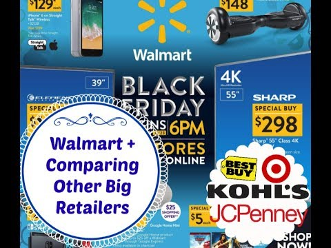Walmart Black Friday 2017 + Comparisons to Other Retailers