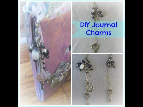 How To Make Charms For Journals /How To Make Beaded Dangles /Tutorial