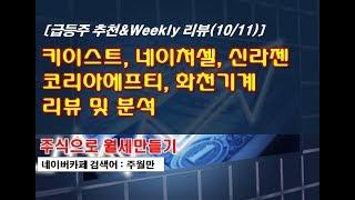 [Weekly리뷰(10.11)] 키이스트, 네이쳐셀, …