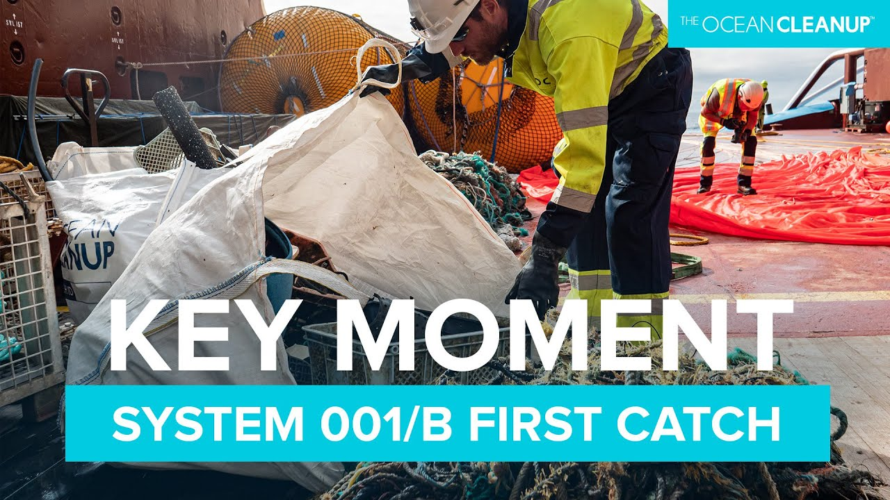 The system's first catch | Cleaning Oceans | The Ocean Cleanup