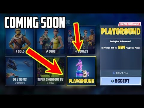 Confirmed Fortnite Playground Mode Coming Soon Come Play