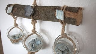 Decorative Ideas for Mason Jars: Hanging Jars with Twine