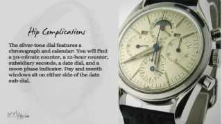 See this pre owned Vintage Universal Geneve Tri Compax Stainless Steel Calendar Moon Phase Watch