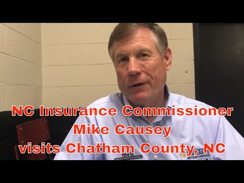 NC Insurance Commissioner Mike Causey visits Chatham County, NC