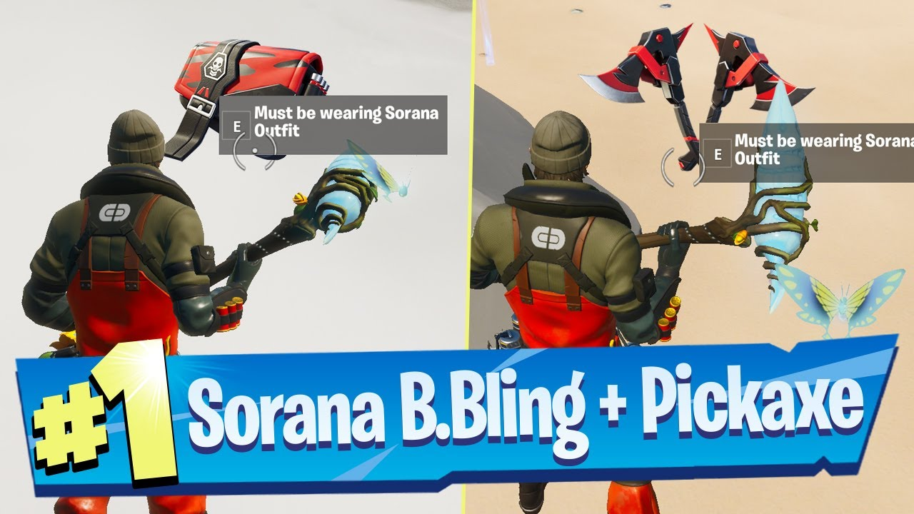 Encuentra el Back Bling y el pico escondidos en Chaos Rising Loading usando el Sorana Outfit - Fortnite + vídeo