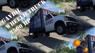 BeamNG Drive Gavril Wheelie truck 3500hp Crash Testing #58