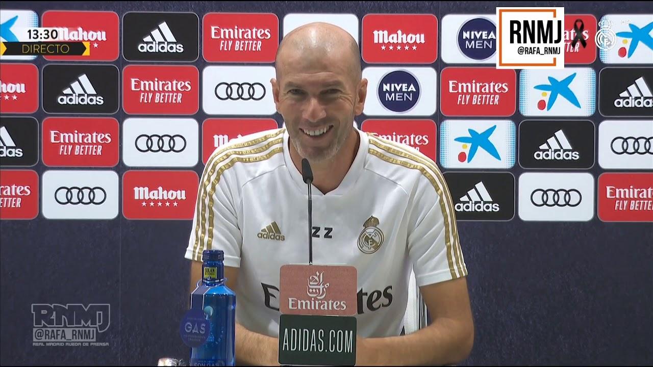 Rueda de prensa de ZIDANE previa Granada - Real Madrid (12/07/2020)