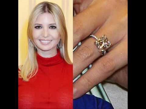 celebrity ivanka trumps engagement ring - Melania Trump Wedding Ring
