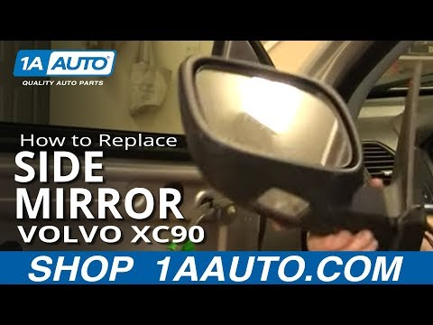 How To Replace Side Rear View Mirror 03-12 Volvo XC90