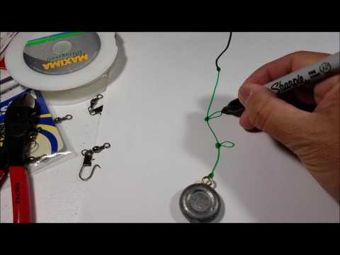 Setup and tie a Simple Bottom Fishing Rig