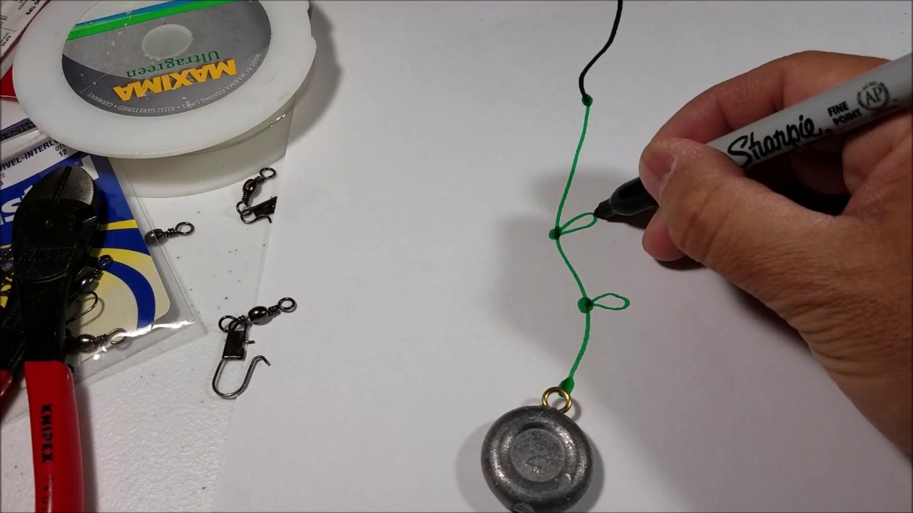 Setup and tie a simple bottom fishing rig youtube for Best bottom fishing rigs