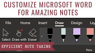 How to Customize Microsoft Word for Efficient Note Taking
